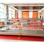 Plataforma suspendida de aluminio zlp630 (ce iso gost) / Equipo de limpeza de alta altura / Góndola temporal / Cuna / Stage swing caliente